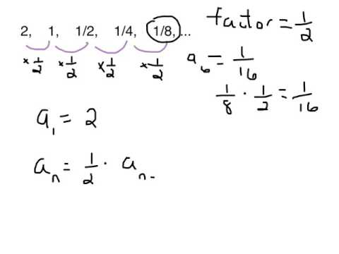 Geometric Sequence (recursive formula) - YouTube