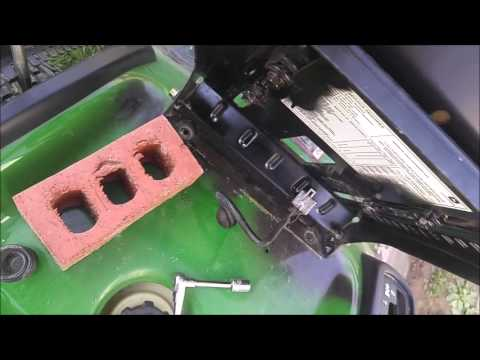 How to Remove Install Driving Seat on John Deere Riding Lawnmower LA100  YouTube