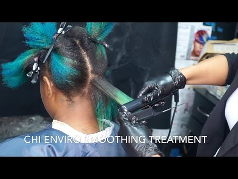 CHI ENVIRO AMERICAN SMOOTHING TREATMENT on COLOR TREATED HAIR