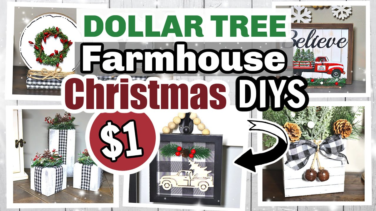 WOW!?! $1 DIY Christmas Decor | Dollar Tree Farmhouse Christmas