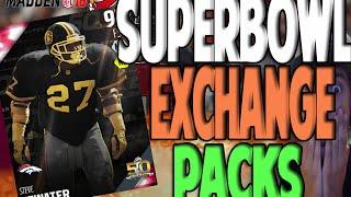 TEN SUPER BOWL ELITE EXCHANGE PACKS!! LEGEND? WOW | MADDEN 16 ULTIMATE TEAM PACK OPENING