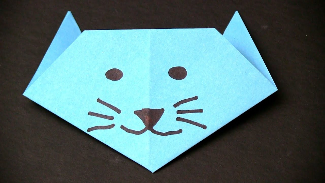 How to make a Paper Cat - Easy Origami for Kids - YouTube - photo#16