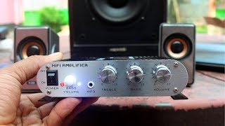 20W 12V Super Bass Mini Hi Fi Stereo Amplifier Unboxing