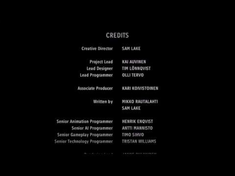 Alan Wake's American Nightmare: Ending Credits