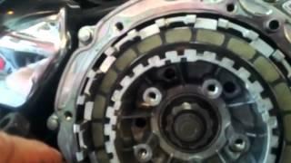 changing a clutch on a 98 1100 honda shadow aero.