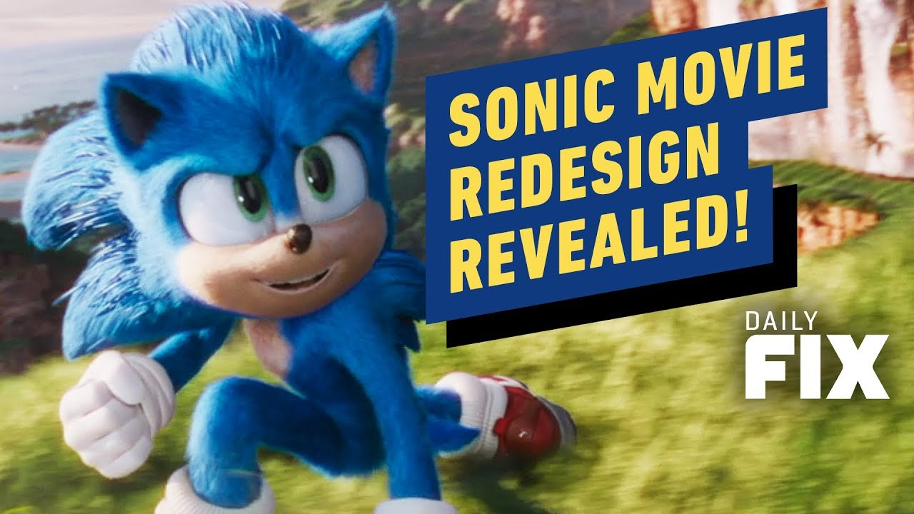 Sonic The Hedgehog Movie Reveals Official Redesign Ign Daily Fix Youtube