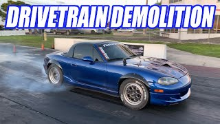 Assessing The Damage To Our Nitrous Miata After Cleetus Showdown. How Bad Could It Be??