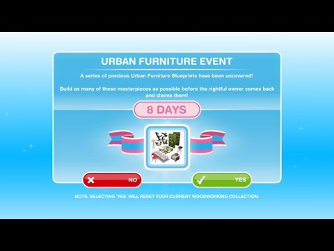 [The Sims Freeplay] - Urban Furniture Event
