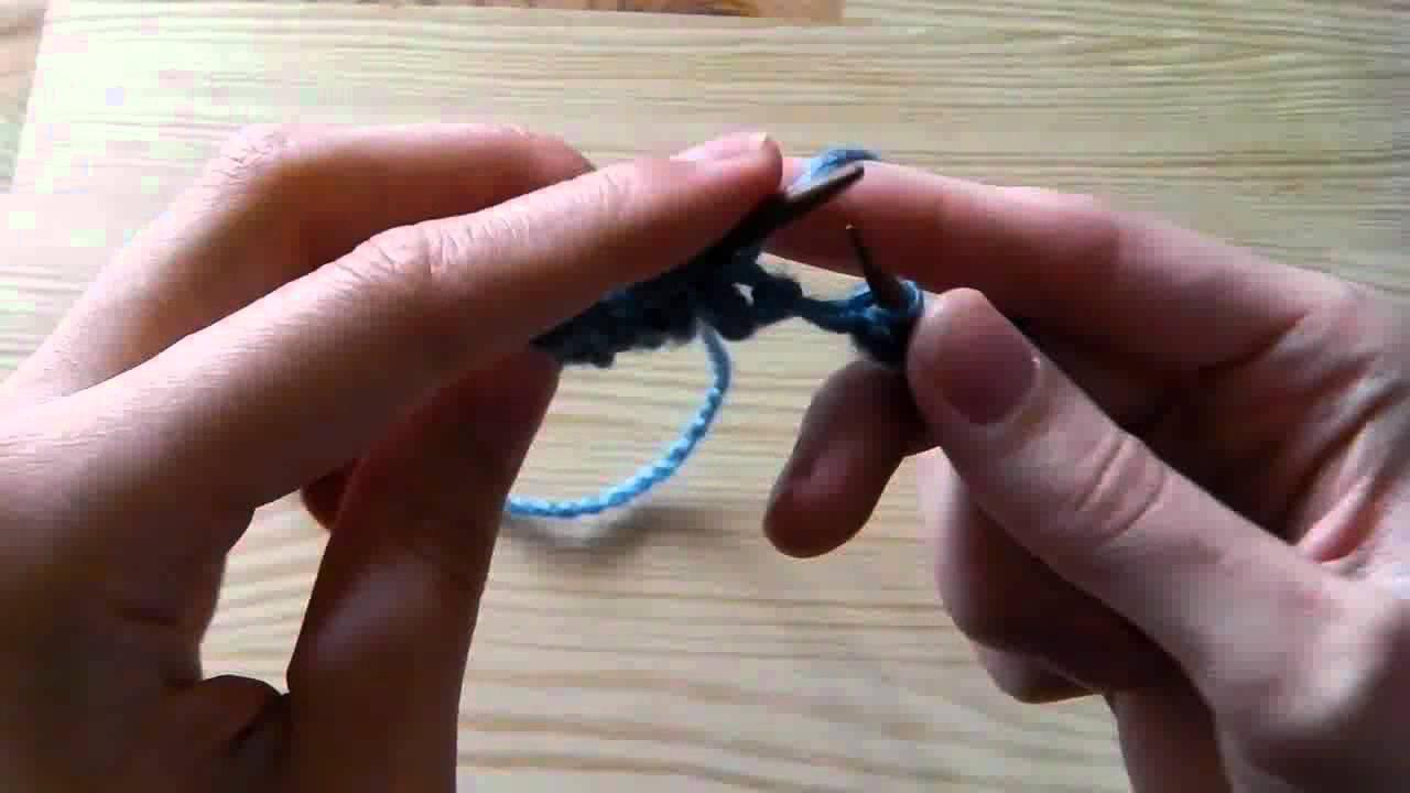 Stricken Lernen Perlmuster Für Linkshänder Combined Strickmethode