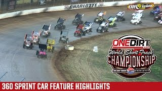 Charlotte Motor Speedway 360 Sprint Car Highlights