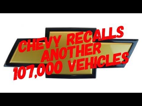 Chevy Recalls Another 107,000 SUVs
