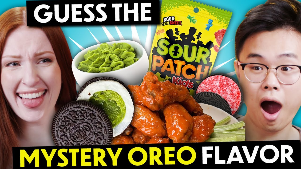 Guess that Mystery Oreo Flavor Challenge! (Wasabi, Mustard, Matcha, Garlic?!)
