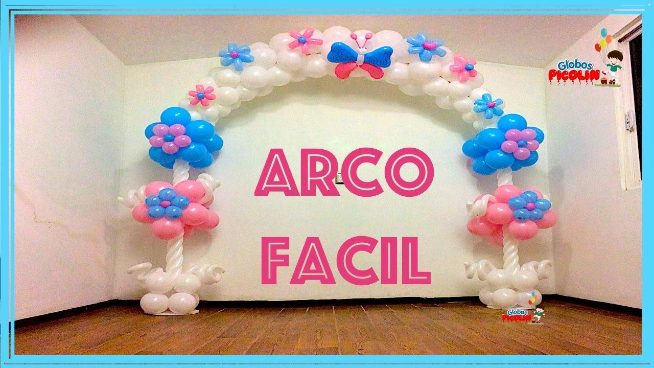 Arco fácil, rapído y economico para fiestas infantiles # 105 - YouTube