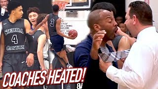 Coaches Get HEATED Face To Face! Sierra Canyon RESPONDS To Trash Talk with BUCKETS ON BUCKETS‼️