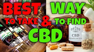 CBD Review with Editor Picks, What is Best CBD and How to Find | CBD Headquarters