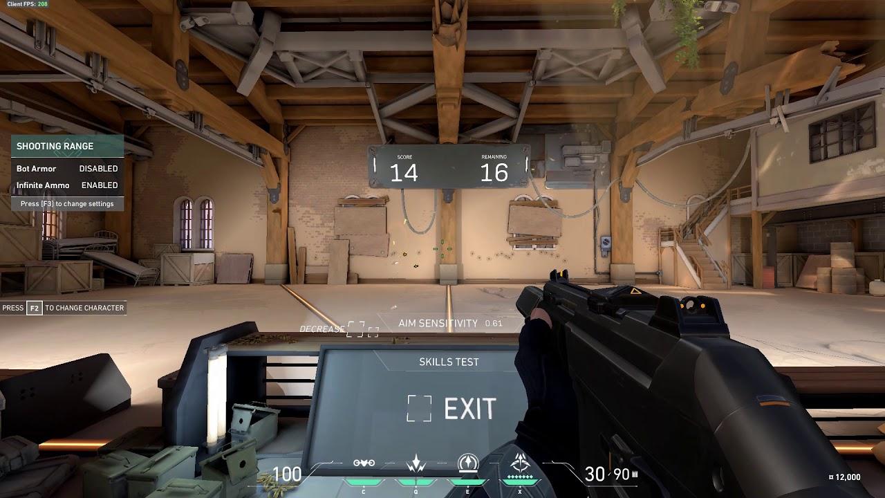 Valorant aim training hard mode 29/30 - Smooth - YouTube