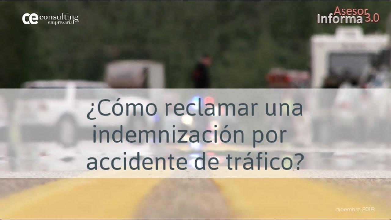 ¿Cómo reclamar una indemnización por accidente de tráfico? | Asesor Informa 3.0