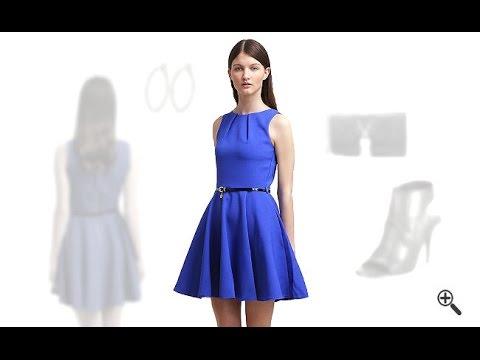 blaues kleid in kurz kombinieren 3 blaue outfits f r cilli youtube. Black Bedroom Furniture Sets. Home Design Ideas