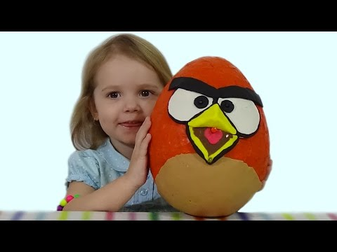 Энгри Бердс огромное яйцо с сюрпризом открываем ANGRY BIRDS