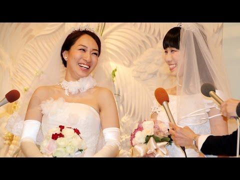 """一ノ瀬文香&杉森茜、婚姻届提出へ「""""同性婚""""議論するきっかけに」 結婚会見2"""
