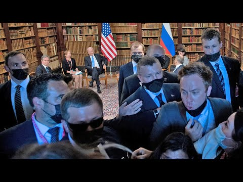 Biden-Putin summit: 'Shoving match' between US-Russia press as talks begin