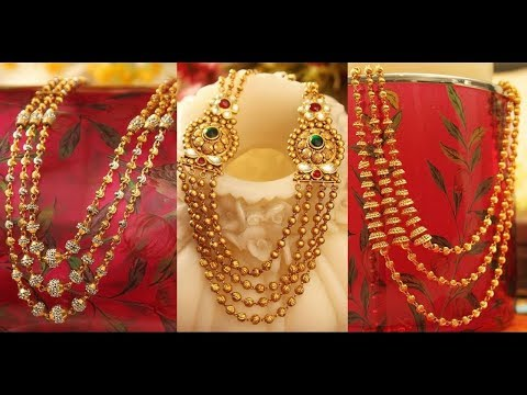 Latest Bombay Model Gold Long HaramJewellery Designs