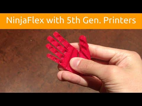 Printing NinjaFlex with Makerbot 5th Gen