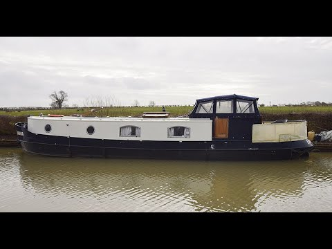 SOLD - Lady Barbara, 47' X 10' DUTCH BARGE STYLE PIPER BOATS 2015.