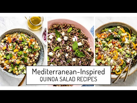 Mediterranean Inspired Quinoa Salad Recipes