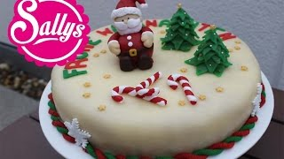 weihnachtliche Marzipantorte mit Marzipandecke / einfach, lecker und ohne viel Werkzeug!
