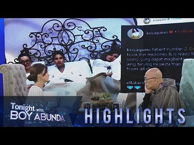 TWBA: Erich shares how Kris Aquino took care of her when she got sick