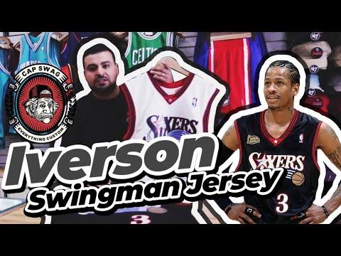 3 AMAZING ALLEN IVERSON Mitchell and Ness Swingman Jerseys!