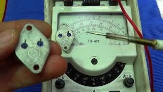 быстрая прозвонка, проверка строчного транзистора. Ремонт телевизора