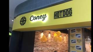 Výroba reklamy na predajňu Coney HOTDOG od ABARTstyle