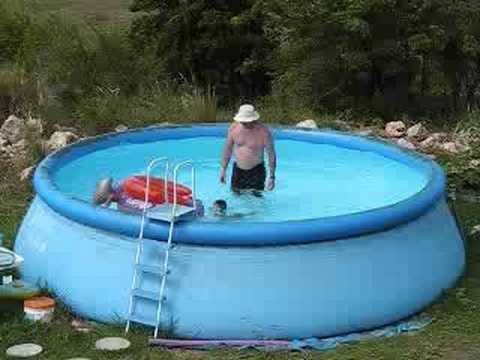 Big wave in small pool youtube for Small paddling pool