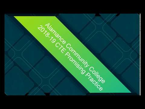 Alamance Community College 2018-2019 CTE Promising Practice