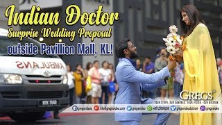 Indian Doctor Surprise Wedding Proposal in PUBLIC !! MOST ROMANTIC EVER