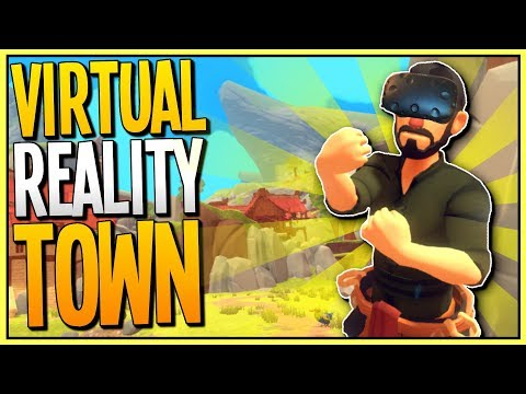 MY LITTLE BLACKSMITH SHOP IN VR? Running a VR Town! - A Township Tale Gameplay - VR HTC Vive