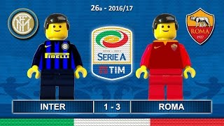 INTER ROMA 1-3 • Serie A 2016/17 (  Film Lego Calcio ) Goal e Highlights 26/02/2017