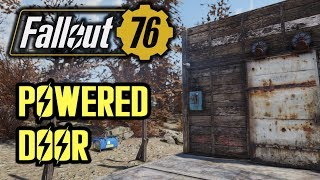 Fallout 76 - Building Tips (Two-Switch Powered Door + Blueprints)