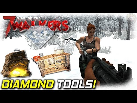 Diamond Tools And Forest Loot | War Of The Walkers MOD | 7 Days To Die Gameplay | EP5