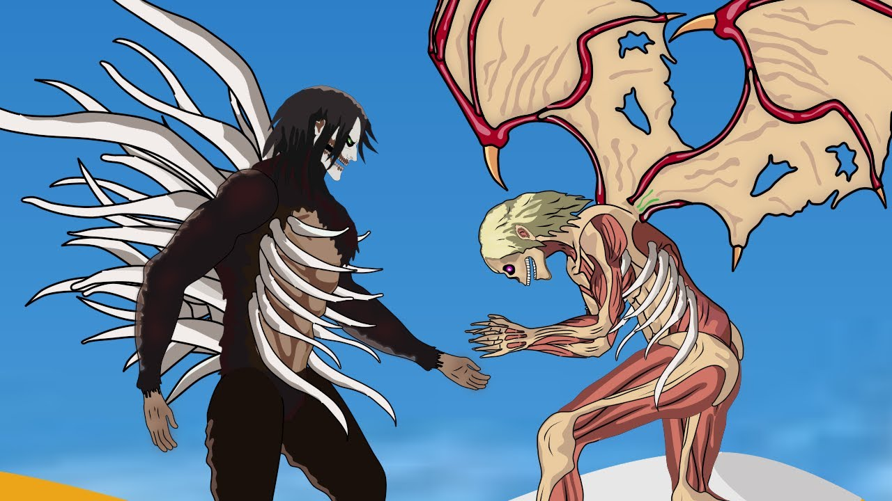 Attack Titan + Beast Titan Fusion Vs Ymir Founding Titan | Attack On Titan
