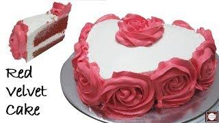 बिना अंडे वाला रेड वेलवेट केक बनाये कढ़ाई में | Red Velvet Cake without Oven | Red Velvet Cake
