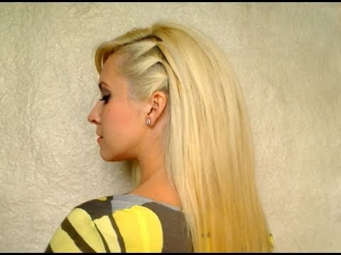 cute easy party hairstyle for medium hair no heat elegant everyday hairdo with volume youtube