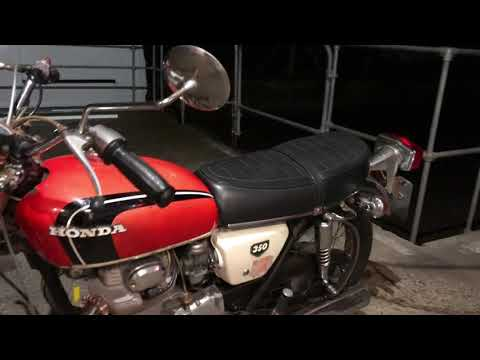 Honda CB350 K3 1971 Cold Start