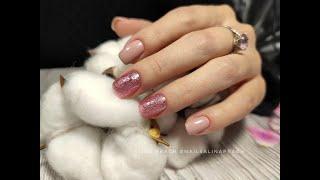 Пенный маникюр Bubble nails Комбинированный маникюр Втирка Нежный маникюр