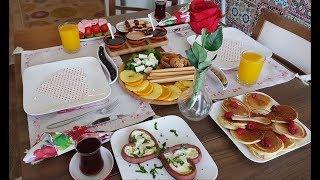 فطور رومنسي الراس فالراس💑بداية يوم كل حب وسعادة😍