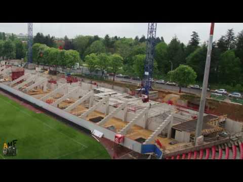 2ème Timelapse de la Construction de la Tribune Est du Stade Gaston Gérard à Dijon