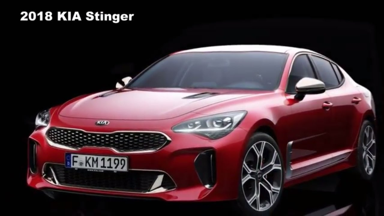 2018 kia stinger debuts with twin turbo v6 rear wheel drive youtube. Black Bedroom Furniture Sets. Home Design Ideas