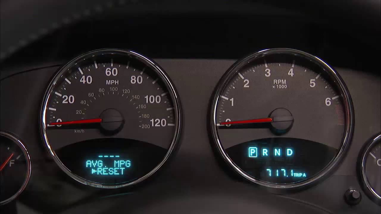 instrument cluster display digital dashboard on the car instrument panel of 2017 jeep patriot [ 1280 x 720 Pixel ]